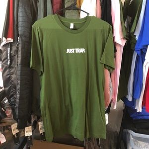 Other - Just Trap Tee - Olive w/ White
